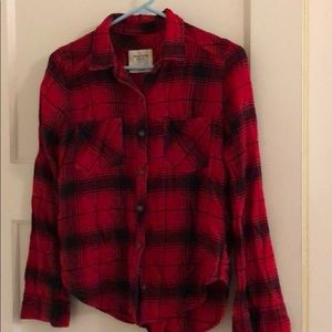 Abercrombie and Fitch black and red flannel